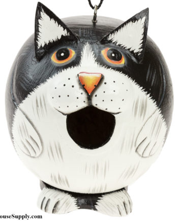 Songbird Essentials Black & White Cat Gord-O Birdhouse