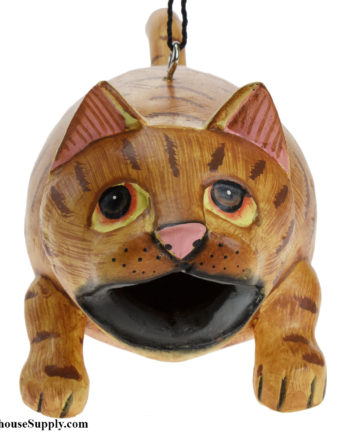 Songbird Essentials Big Mouth Orange Tabby Cat Birdhouse