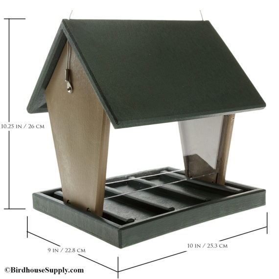 Songbird Essentials Recycled Plastic Large Hopper Feeder