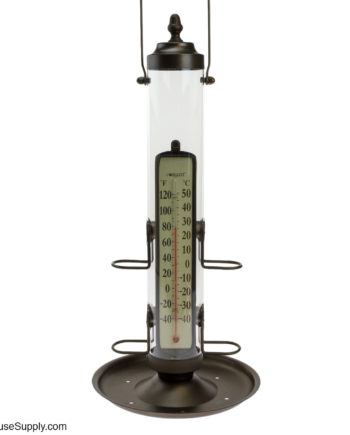 Conant Custom Brass Bird Feeder with Thermometer
