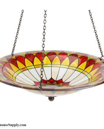 Evergreen Enterprises Tiffany Hanging Glass Birdbath