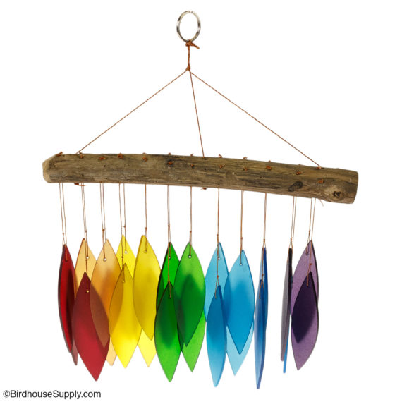 "Blue Handworks Handcrafted ""Over the Rainbow"" Wind Chime"
