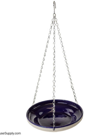 Rainbow Gardman Glazed Hanging Bird Bath  - Blue