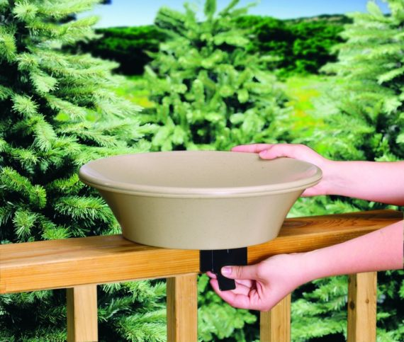 Allied Bird Bath with EZ-Tilt-To-Clean Deck Mounting Hardware - 14 inch