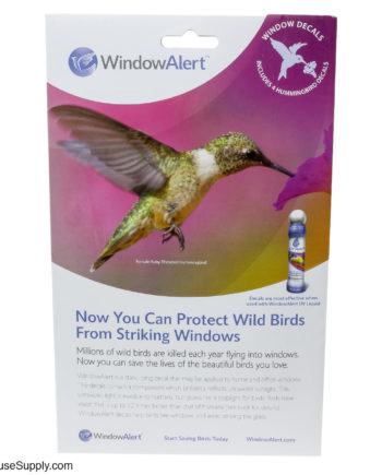 Window Alert Hummingbird Window Decals - 4 Pack